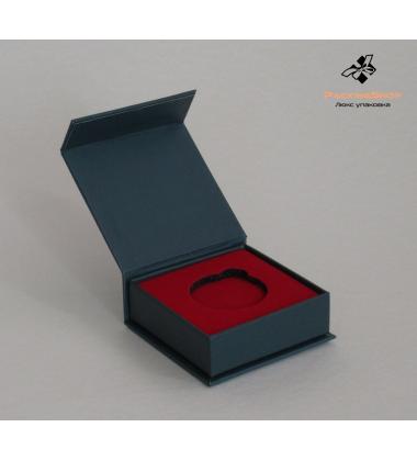 Коробка с магнитами  ложемент для медали Эва Флок