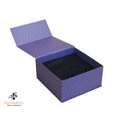 Коробка с магнитами полноцветная печать ложемент изолон флок