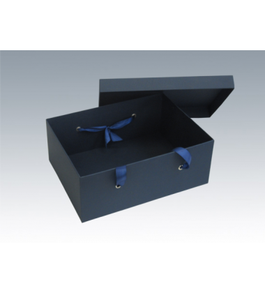 Коробка с атласными лентам 38*28*15 см