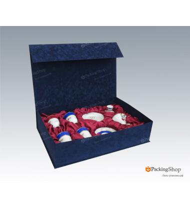 Коробка для сервиза из флока 73х48х17