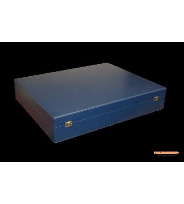 Коробка для сервиза с замочками универсальная кожа стрейч бархат
