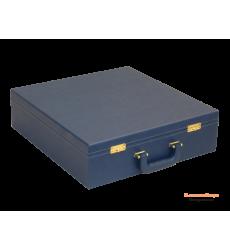 Коробка кейс для сервиза кожа с атласным ложементом