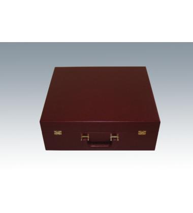 Коробка чемодан бордовый 62*48,5*10 см