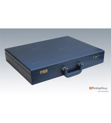 Коробка кейс синий двухуровневый