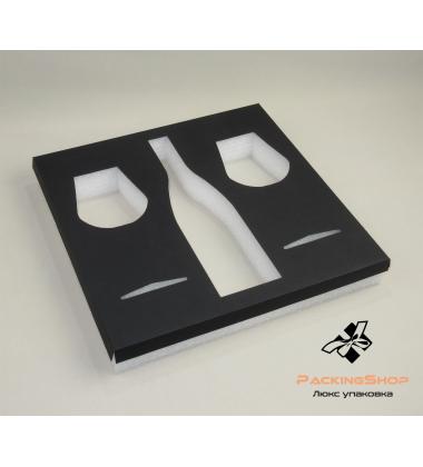 Ложемент из белого изолона с картоном в макете коробки